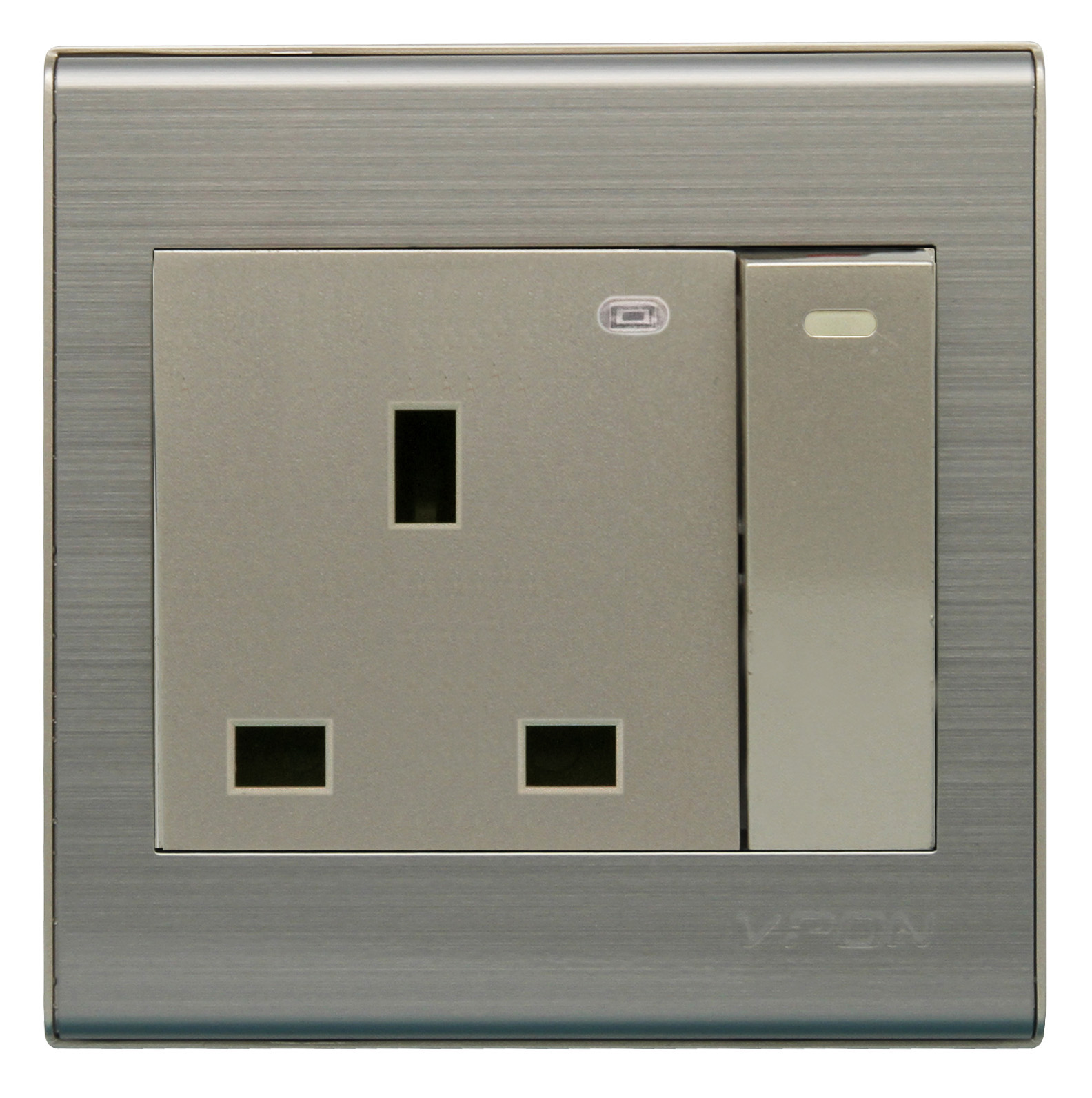 13A Wall switch socket with light