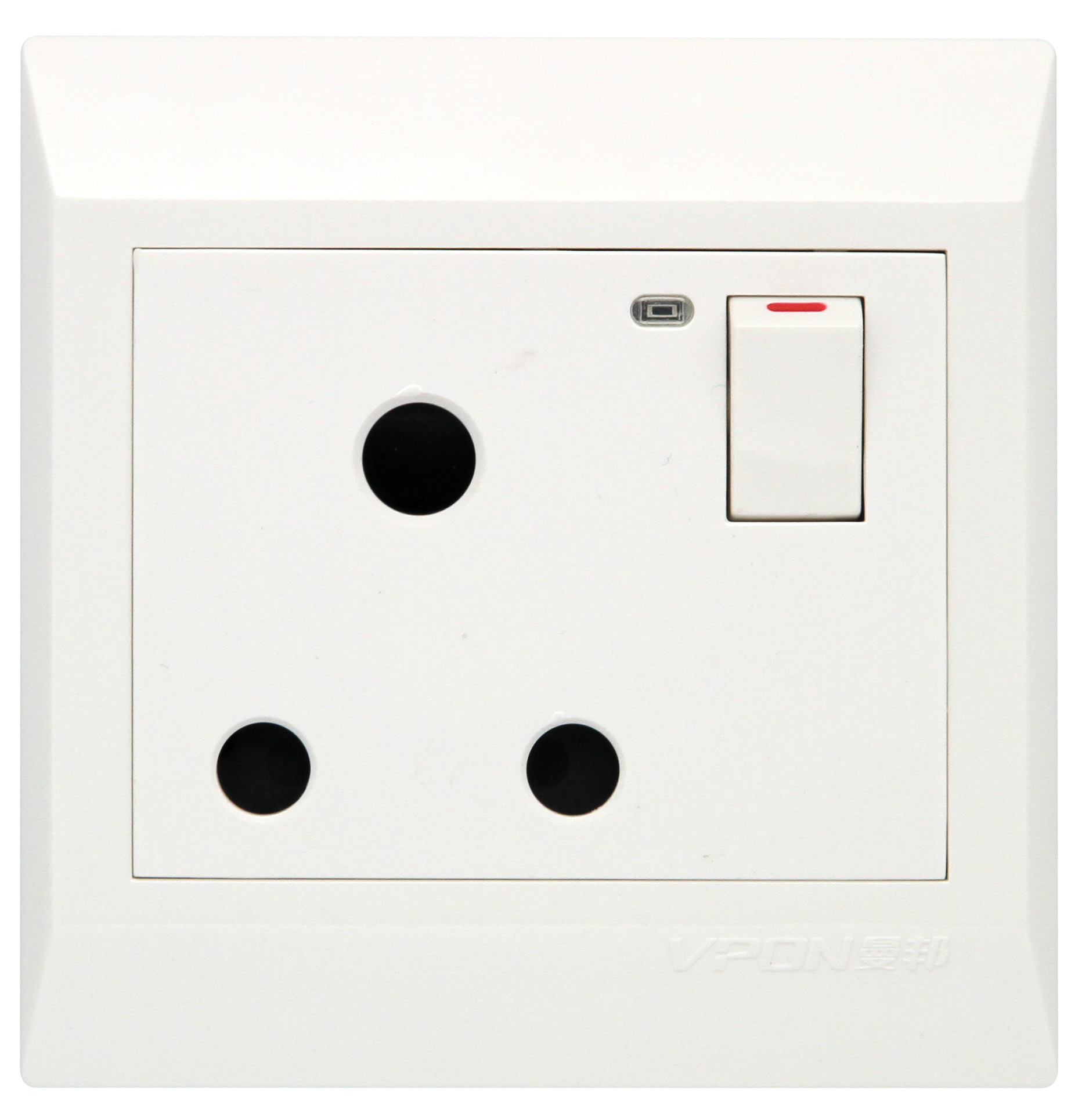 15A switch socket with light