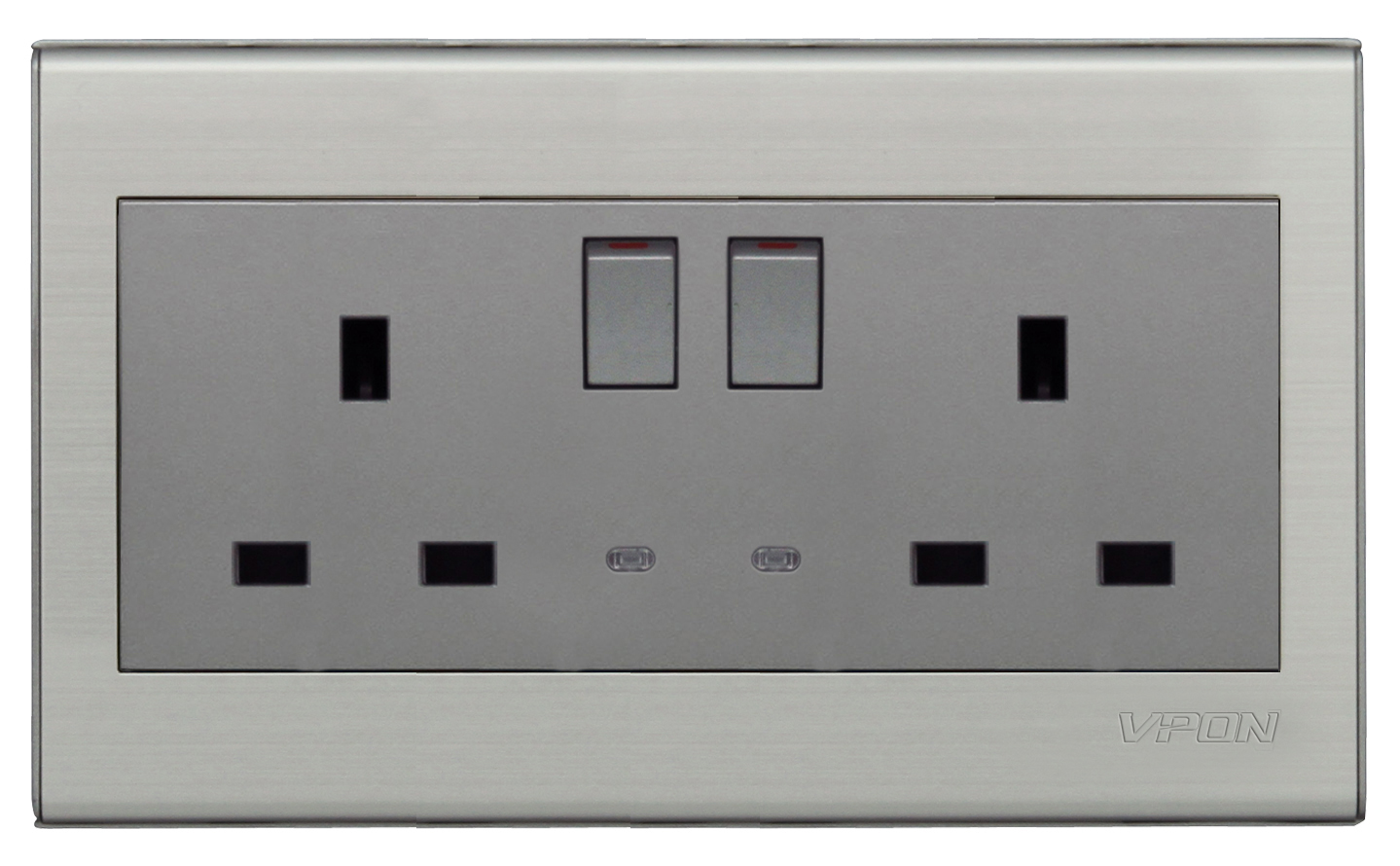 Double 13A British Wall Switch Socket
