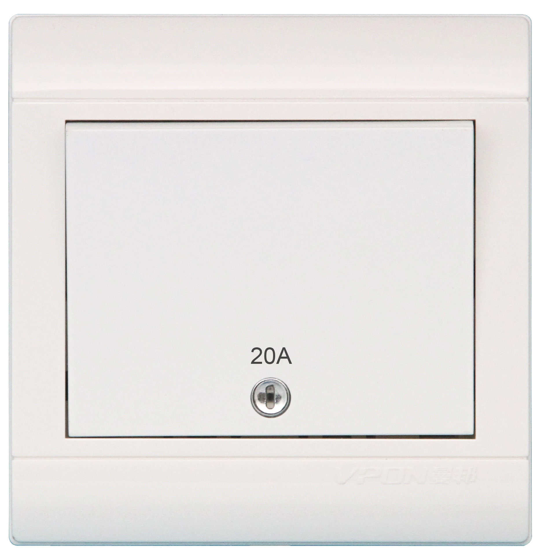 20A Double Pole switch with light