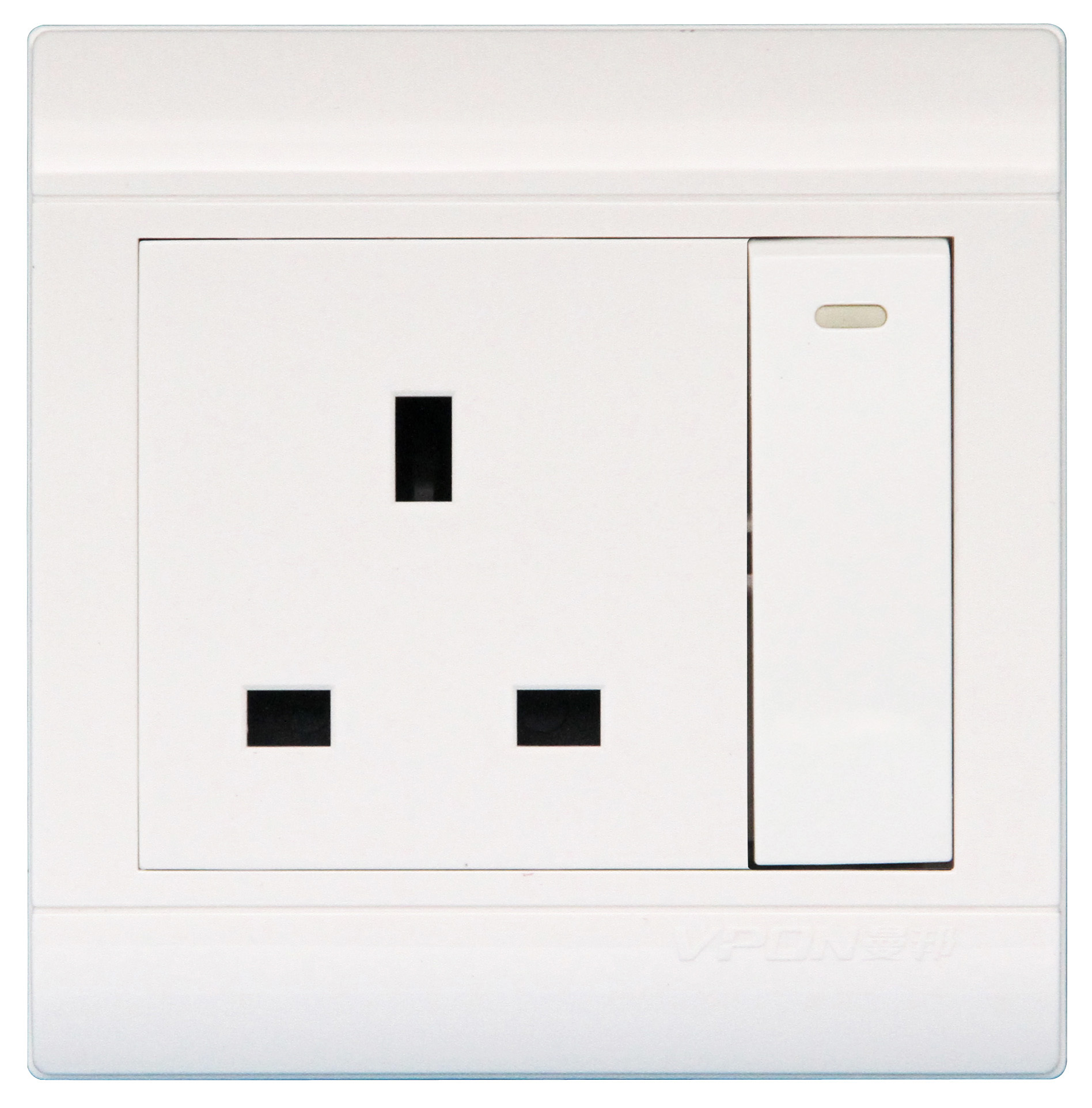 13A British Wall Big Switch Socket