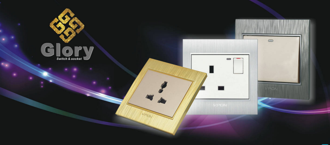 Glory series wallswitch and socket