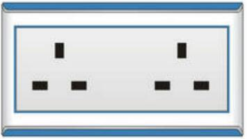 Double 13A British Wall Socket