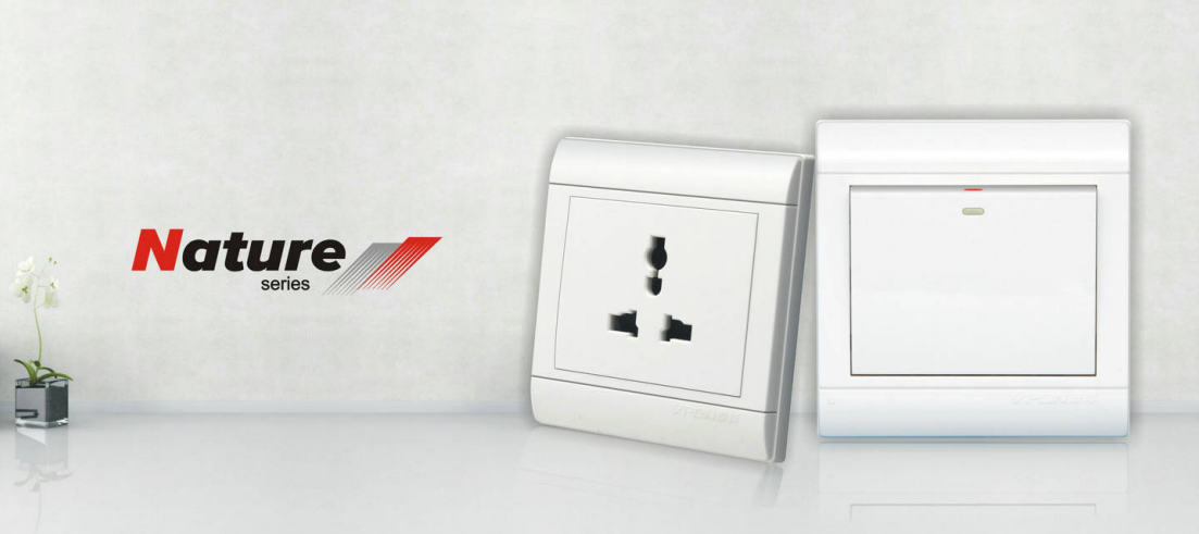 Nature series wallswitch and socket
