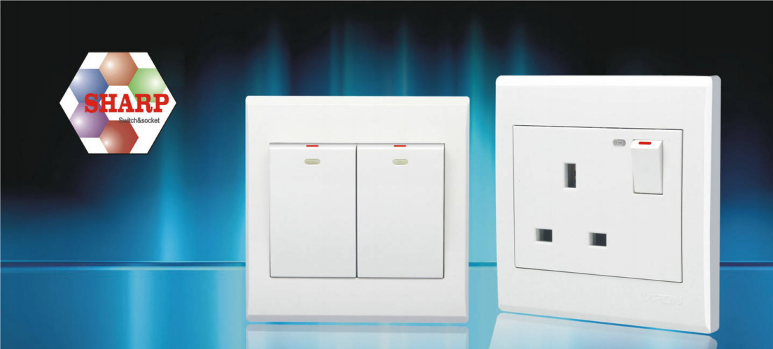 Sharp Series wall swtich and socket