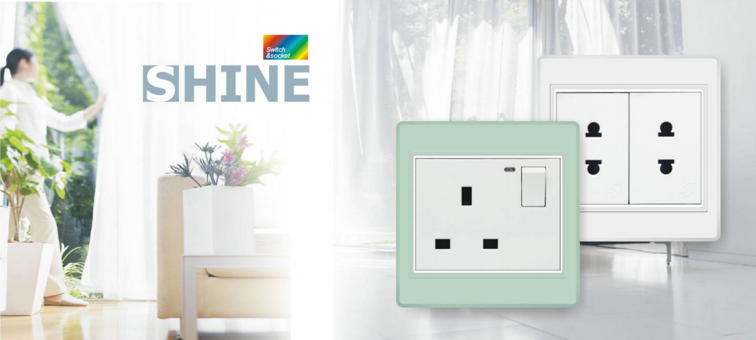Shine series wallswitch and socket