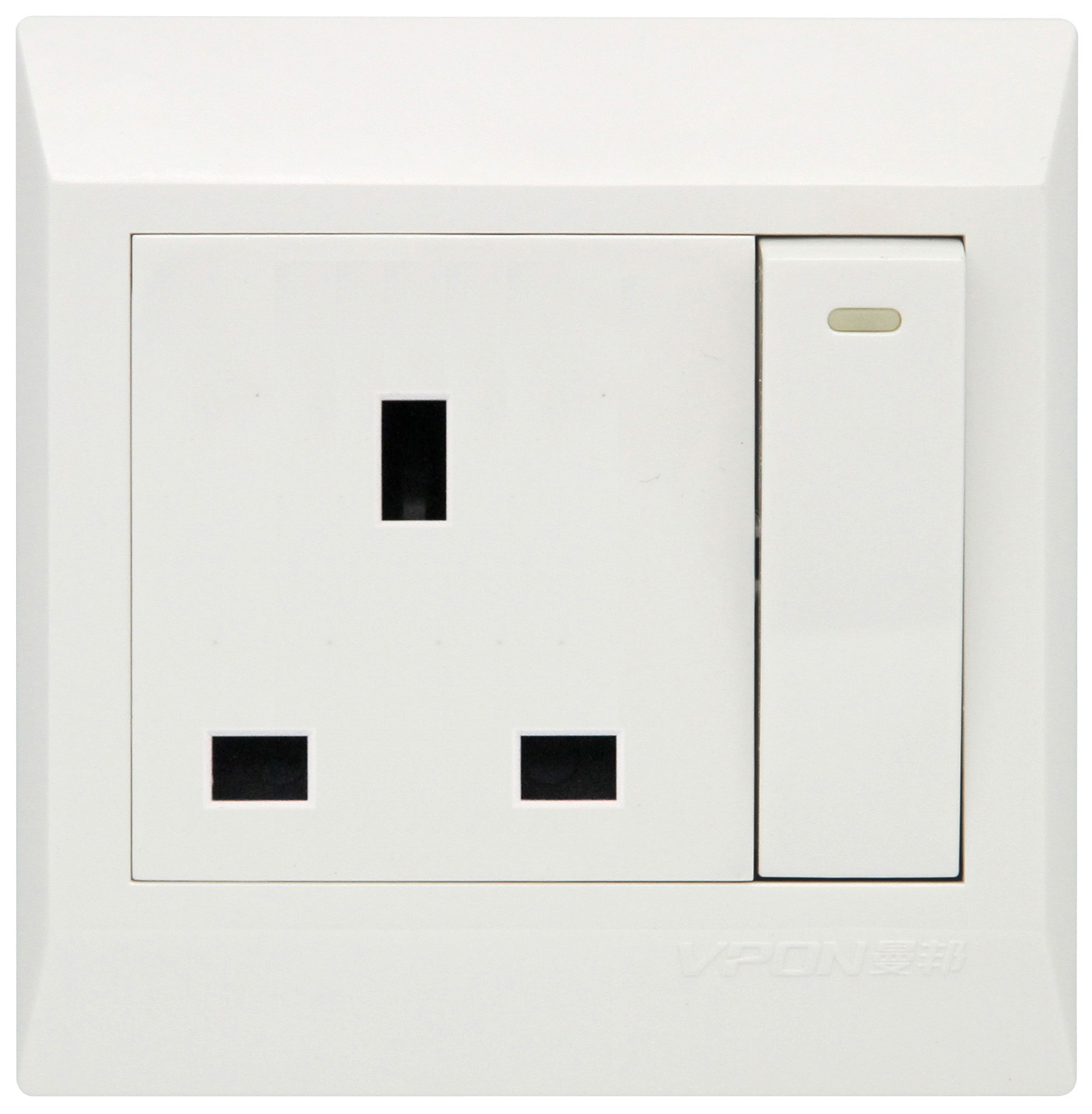 13A British Wall Switch Socket