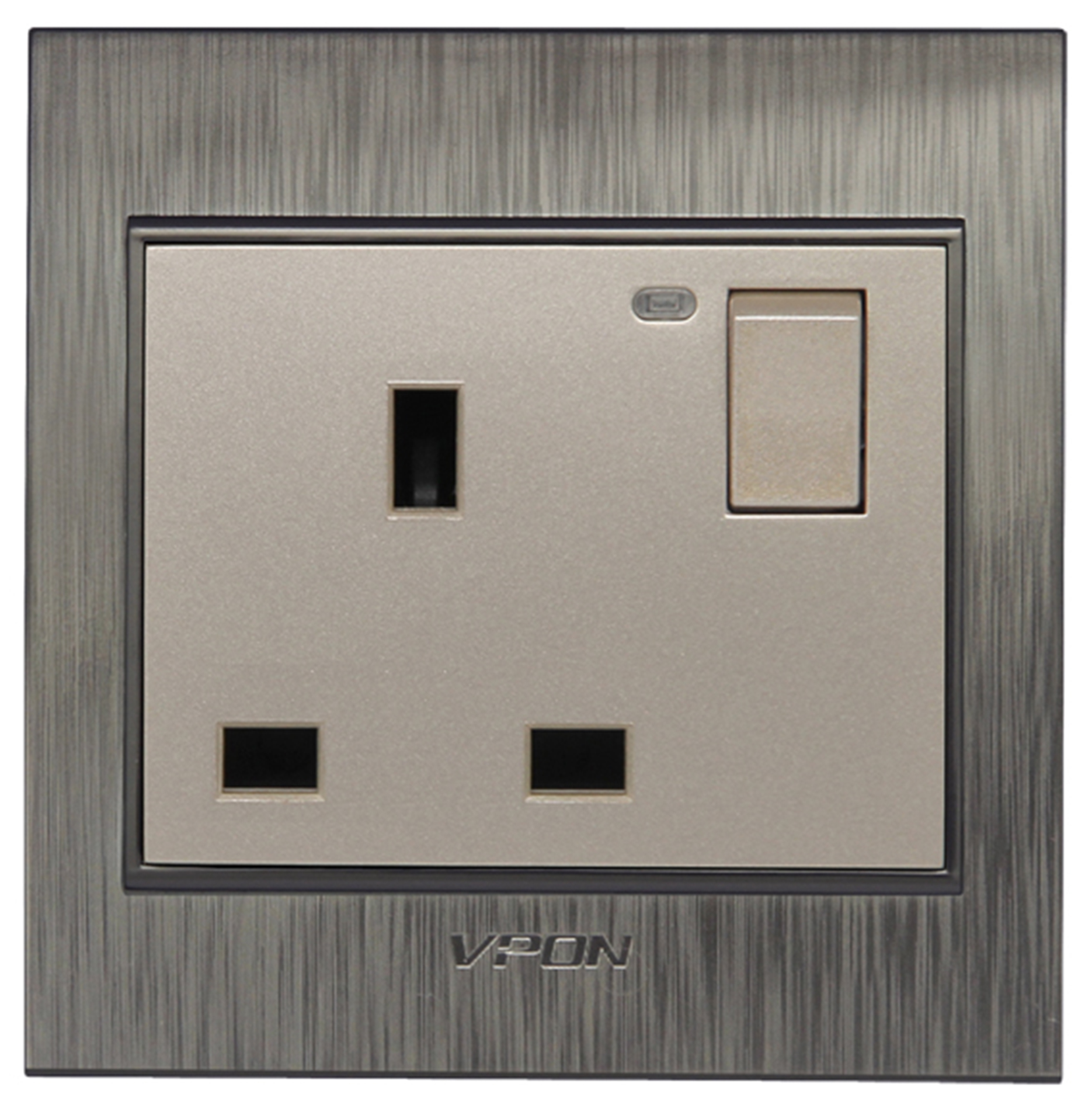 13A British Wall Switch Socket with Led