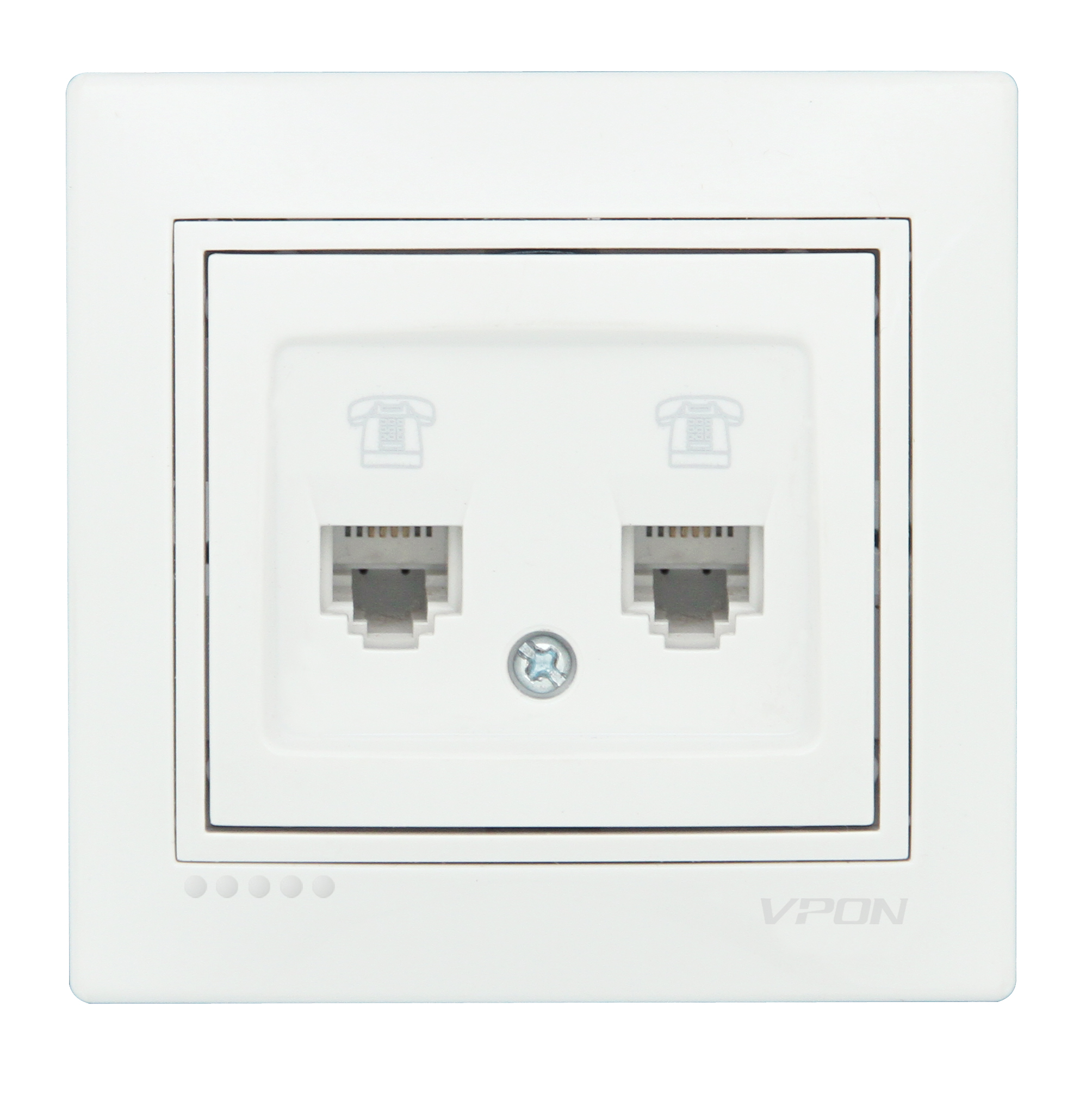 2 Gang Telephone Socket-LIVO2 Gang Telephone Socket-LIVO