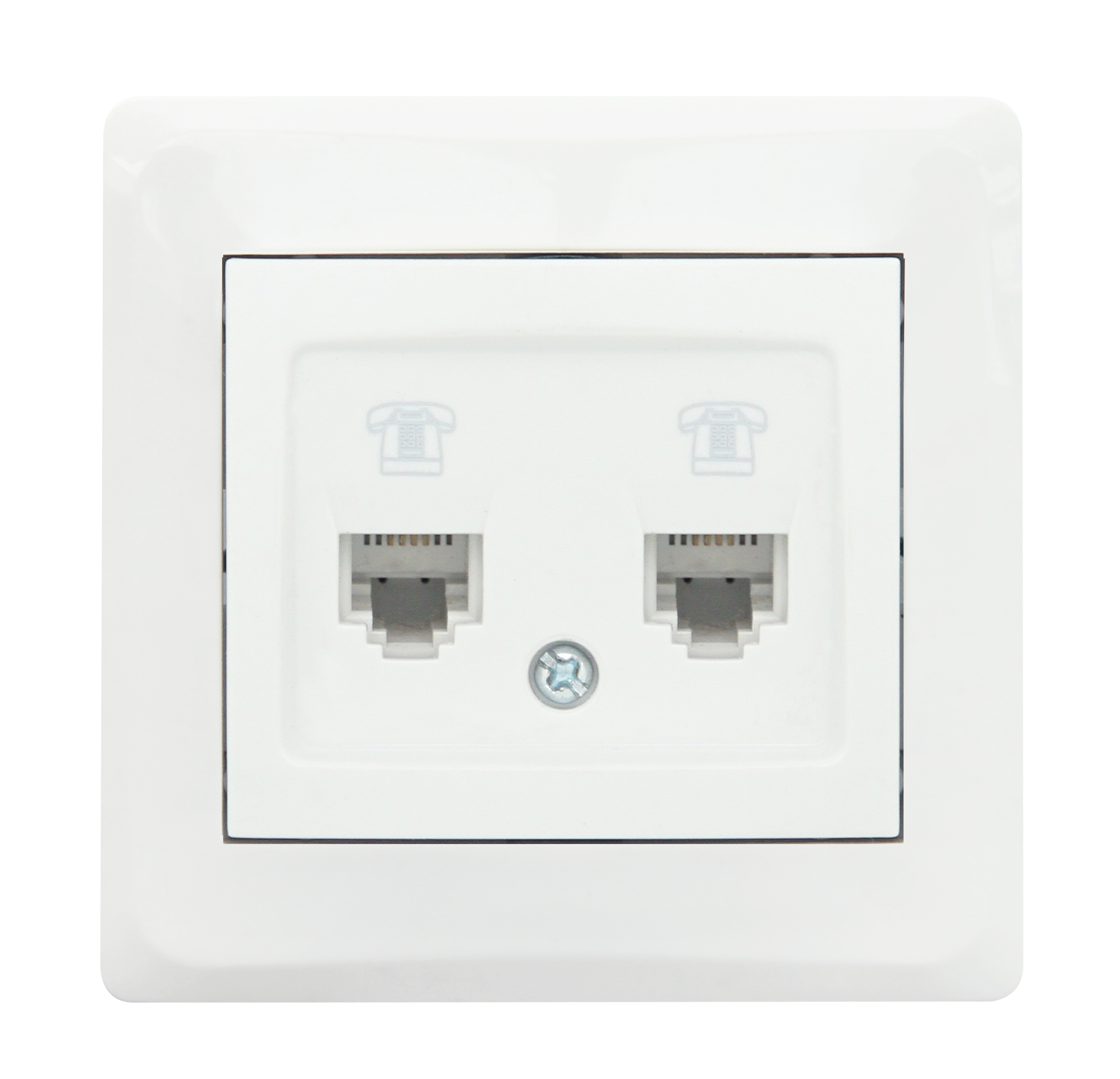 Numeris Telephone Socket Outlet -2 Gang