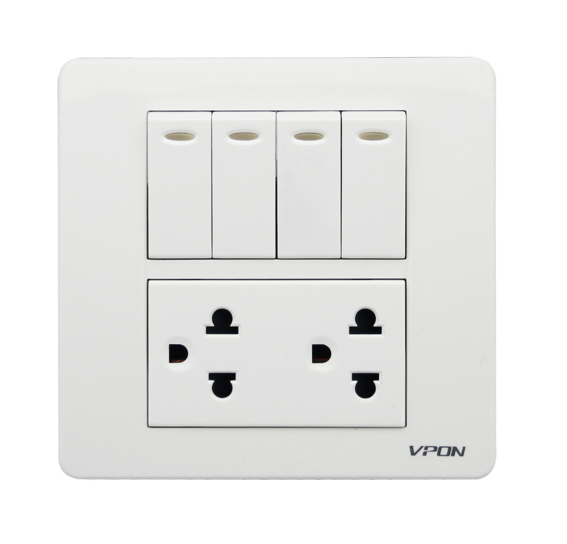 4 Gang switch and Double US socket
