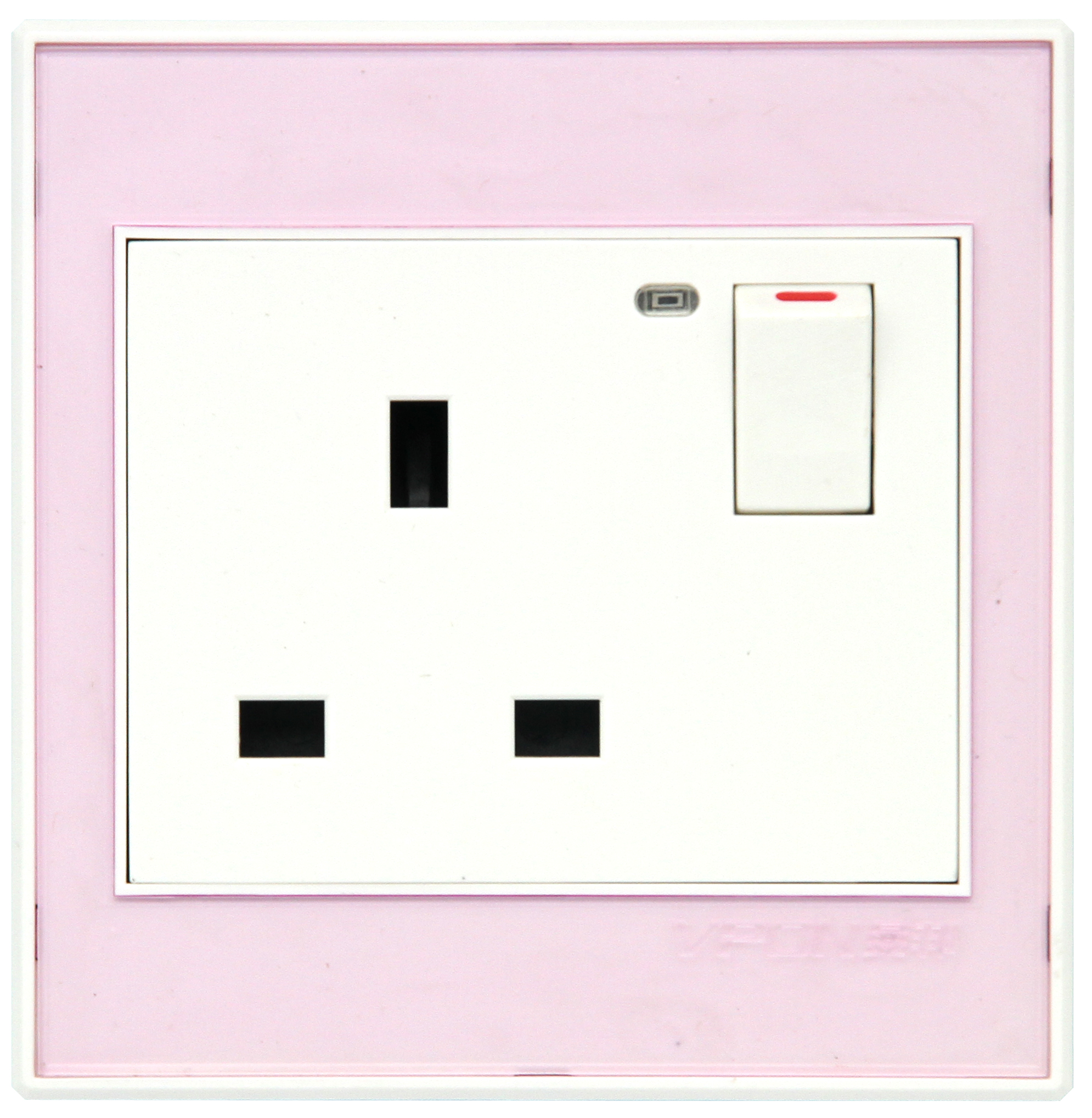 13A switch and socket with light
