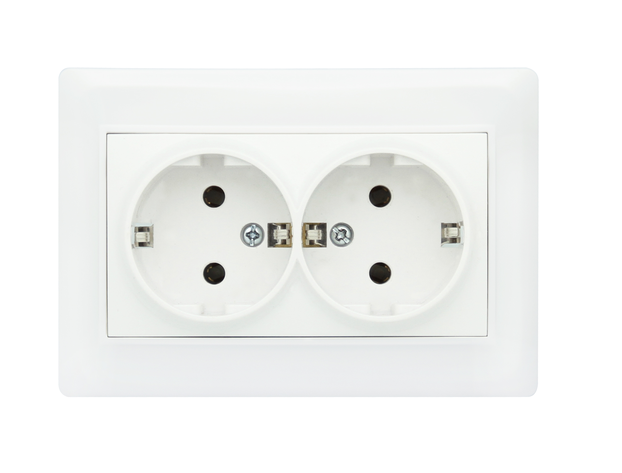 Double Socket Outlet Earth