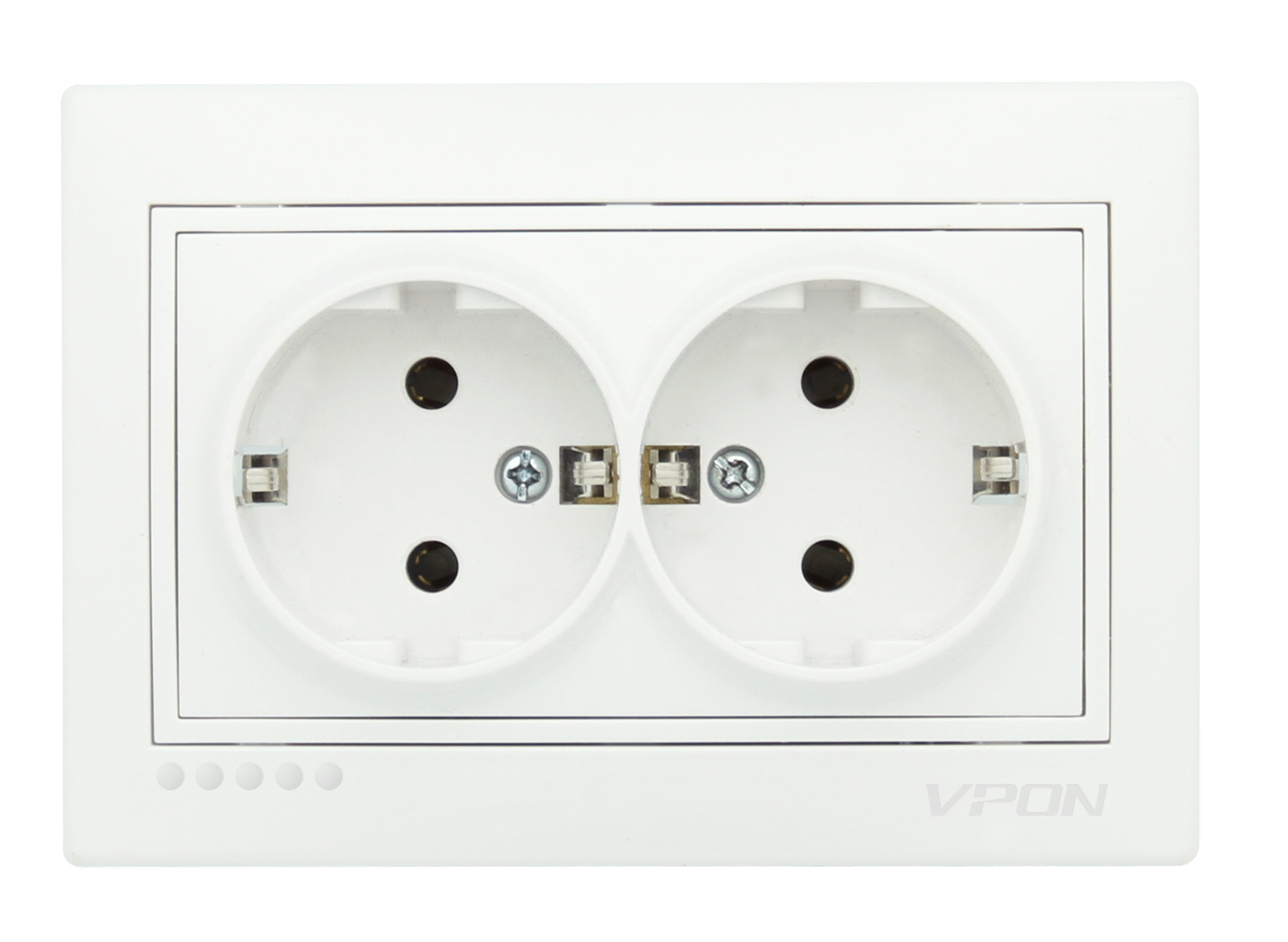 Double Socket Outlet Earth-Ceramic