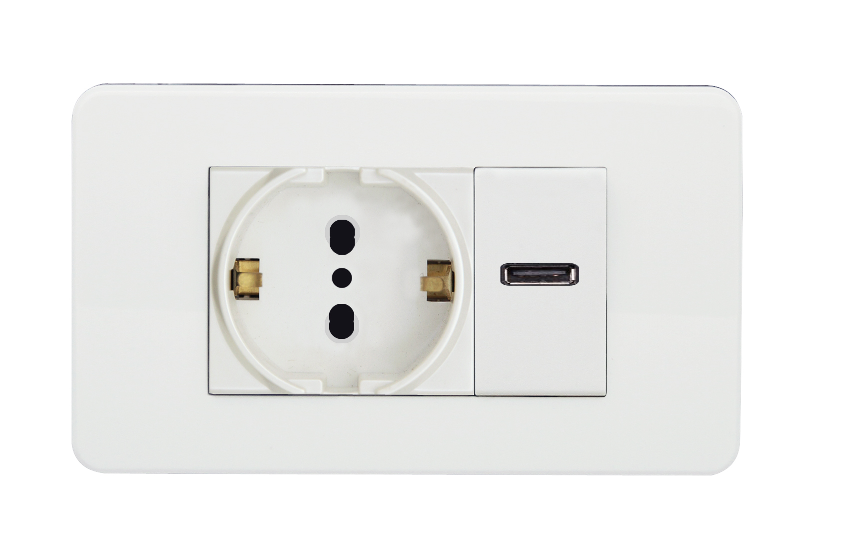 Multi-Europe socket and USB