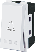 PUSH BUTTON 16A-WITH BELL SYMBOL