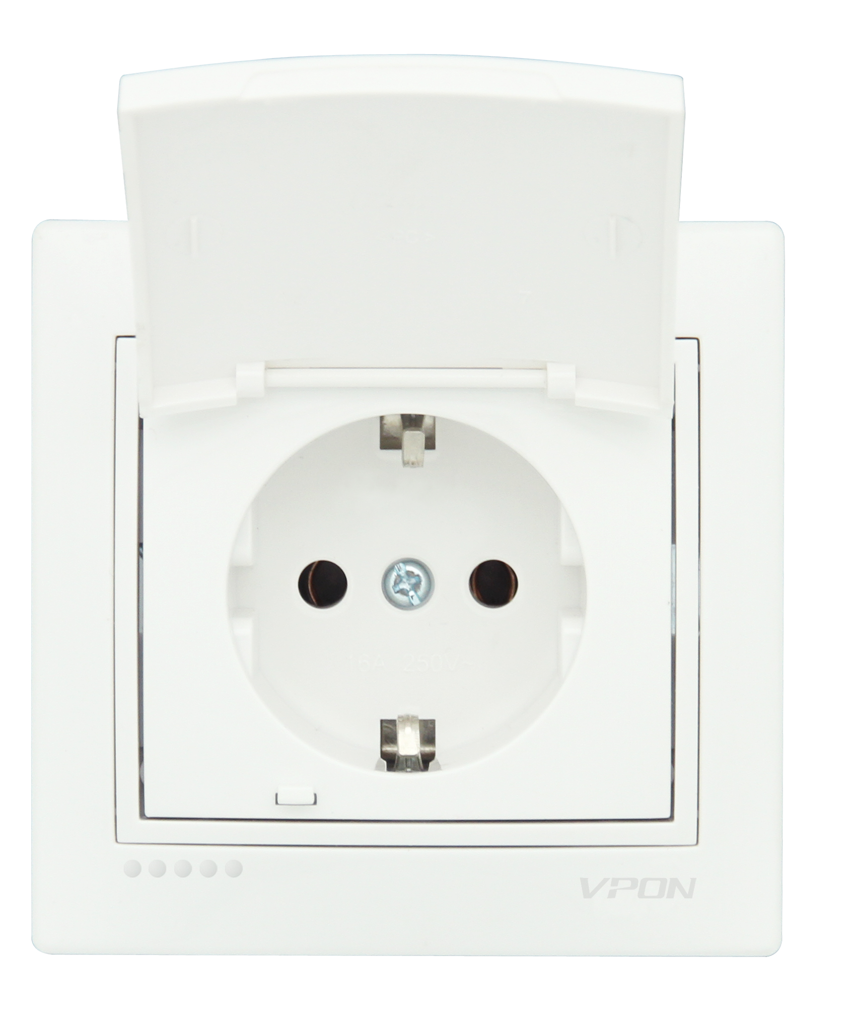 Socket Outlet Earthed-With Cover-Ceramic