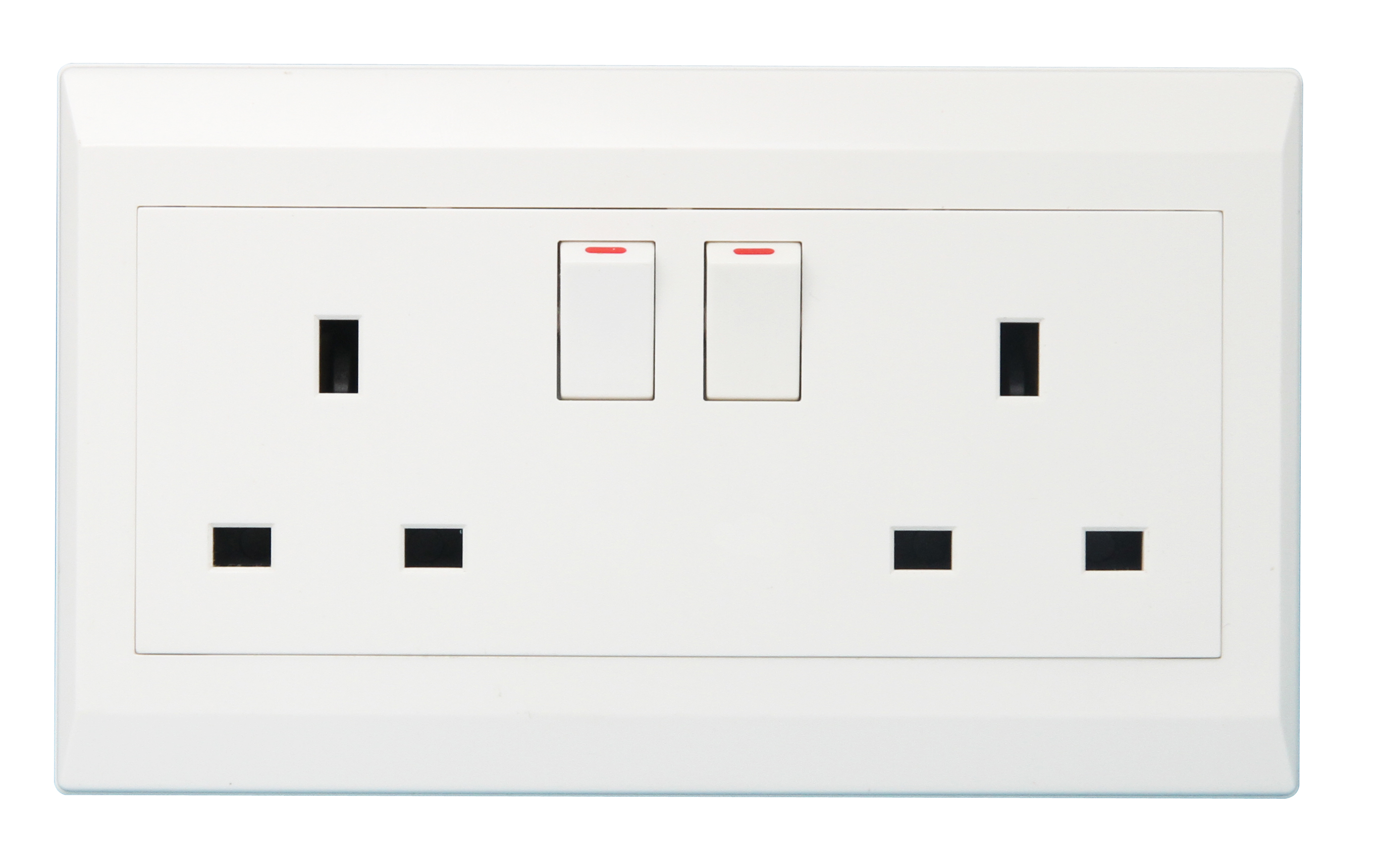 Double 13A British Wall Swith Socket